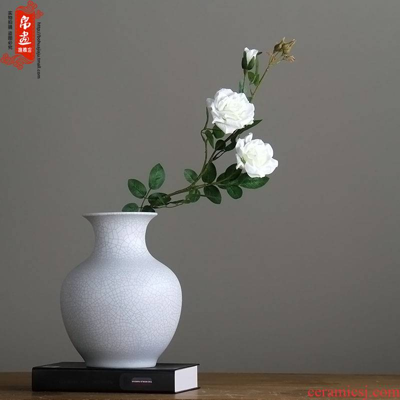 Booking with jingdezhen high temperature ceramic dry flower vases, flower ceramic furnishing articles villa example room sitting room decoration bottles