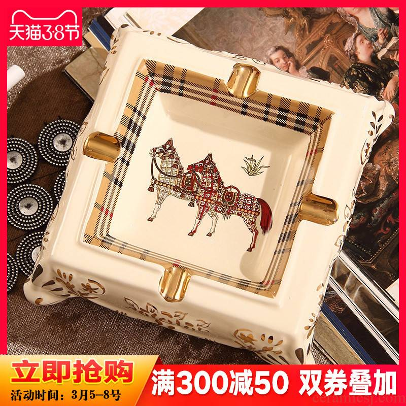 British bouguer ceramic ashtray European creative fashion decoration ashtray sitting room tea table household act the role ofing is tasted furnishing articles