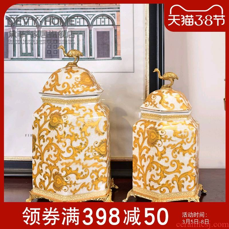 American creative home furnishing articles general ceramic pot, the sitting room porch sample room to receive a housewarming gift to his new house