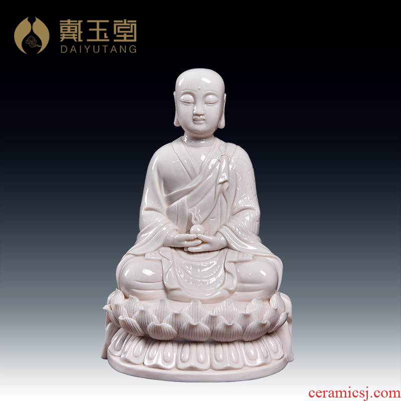 Yutang dai dehua ceramic zen characters consecrate Buddha earth treasure bodhisattva adornment that occupy the home furnishing articles/D12-42