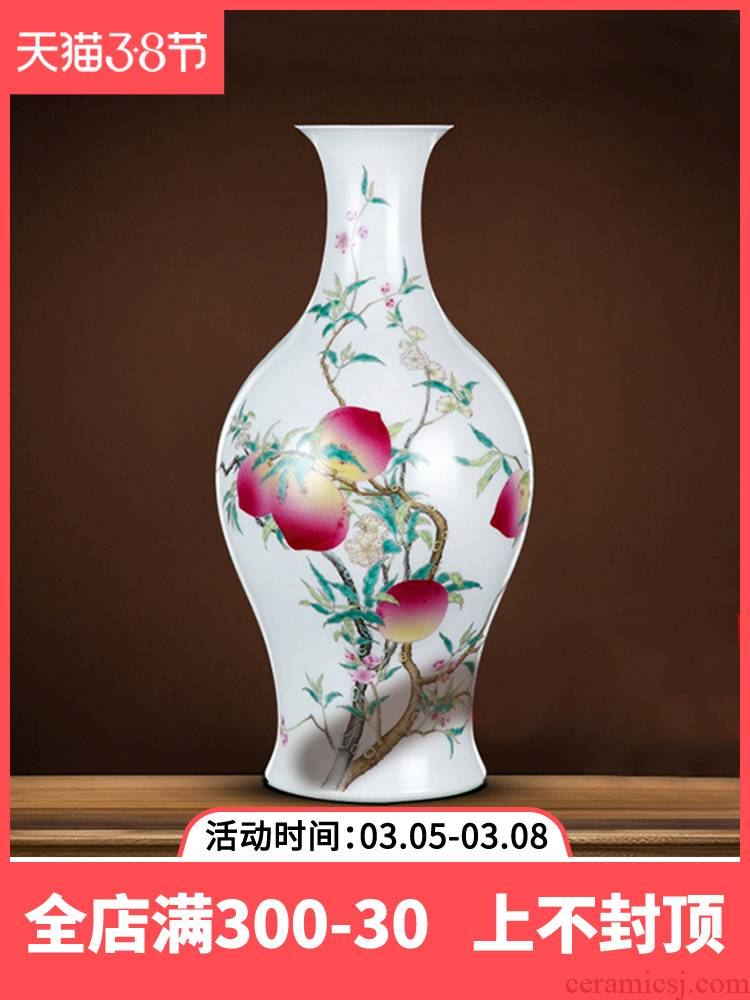Better sealed up with archaize sitting room flower arranging furnishing articles of jingdezhen ceramic vases, hand - made porcelain rich ancient frame of new Chinese style porch