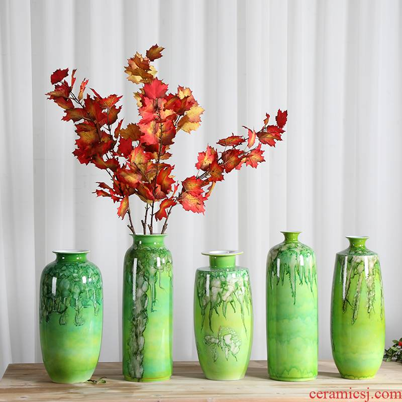 Jingdezhen ceramics flower vase of new Chinese style restoring ancient ways is sitting room home rich ancient frame adornment handicraft furnishing articles