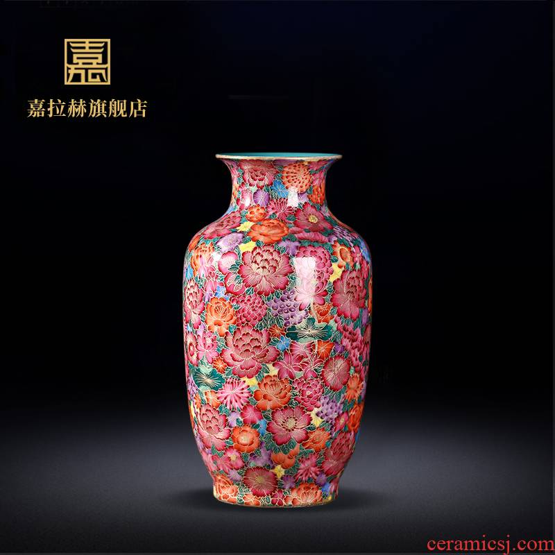 Jia lage jingdezhen ceramics imitation the qing qianlong wire inlay enamel see colour white gourd vases Chinese crafts are sitting room