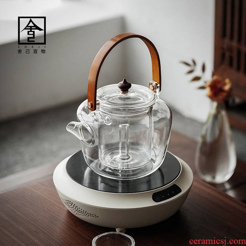 "The Self - ""appropriate content of white tea glass pot of boiling tea an artifact electric glass teapot boiled tea, tea sets TaoLu boil tea"
