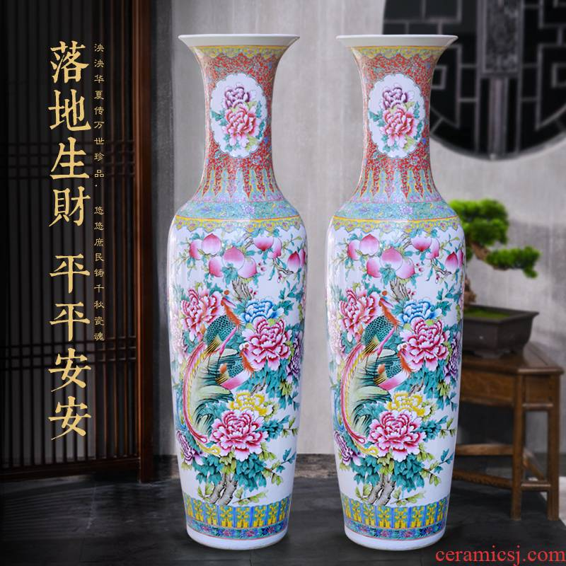 Jingdezhen ceramics hand - made large vases, Chinese style decoration to the hotel opening party furnishing articles customized gifts