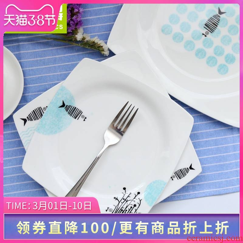 Think hk have dinner plate 8/9/10 inches ipads porcelain tableware creative steak soup plate of fruit dish dish plates