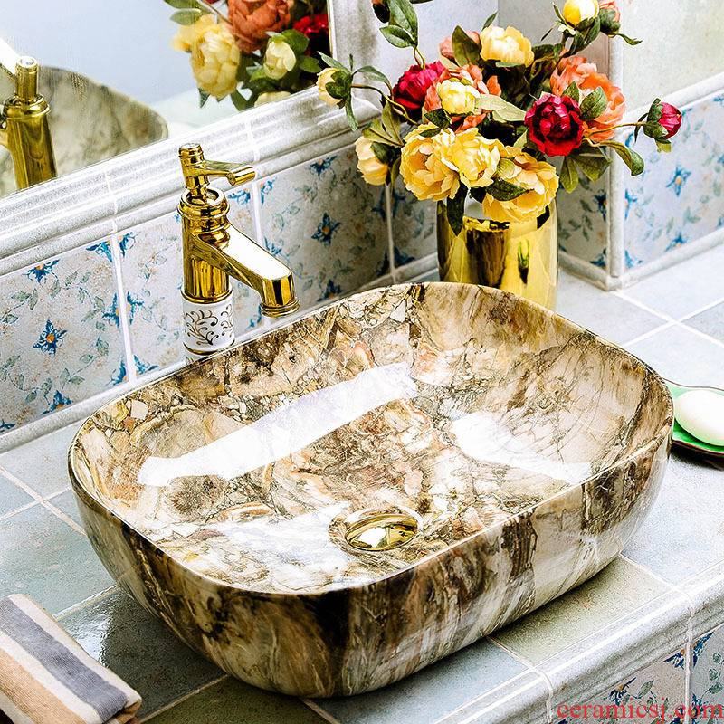 Basin of wash one on ancient ceramics home European art creative wei yu the bathroom toilet Basin that wash a face the pool that wash a face