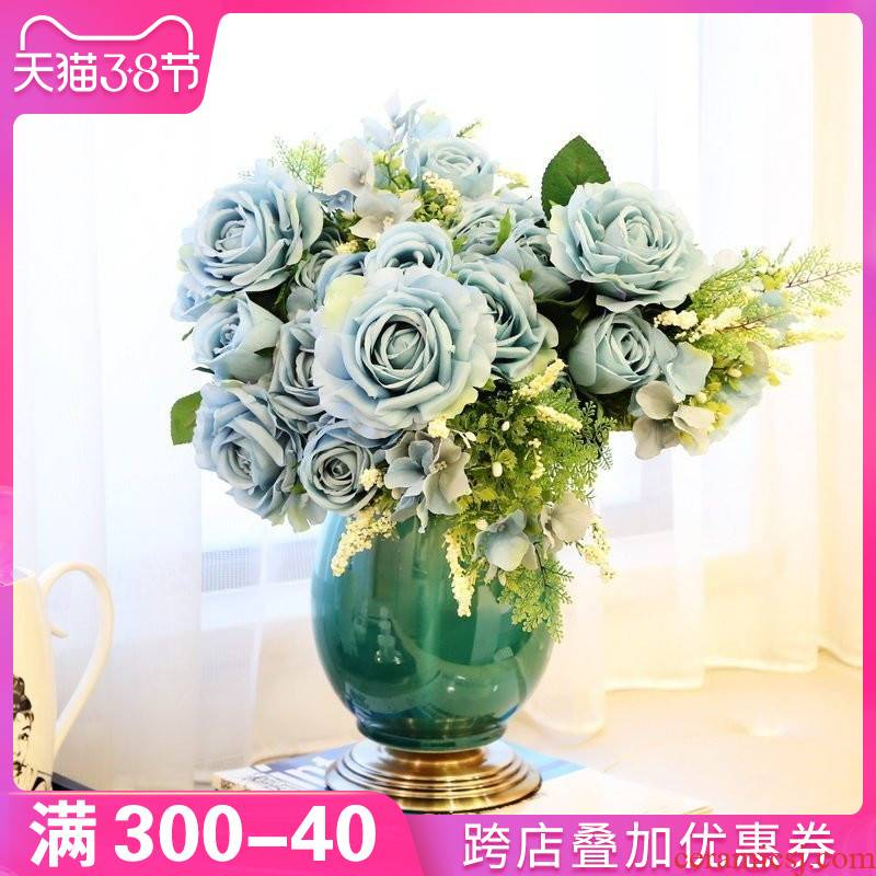 European household adornment furnishing articles table vases, ceramic flower arrangement sitting room porch TV ark, desktop decoration ideas