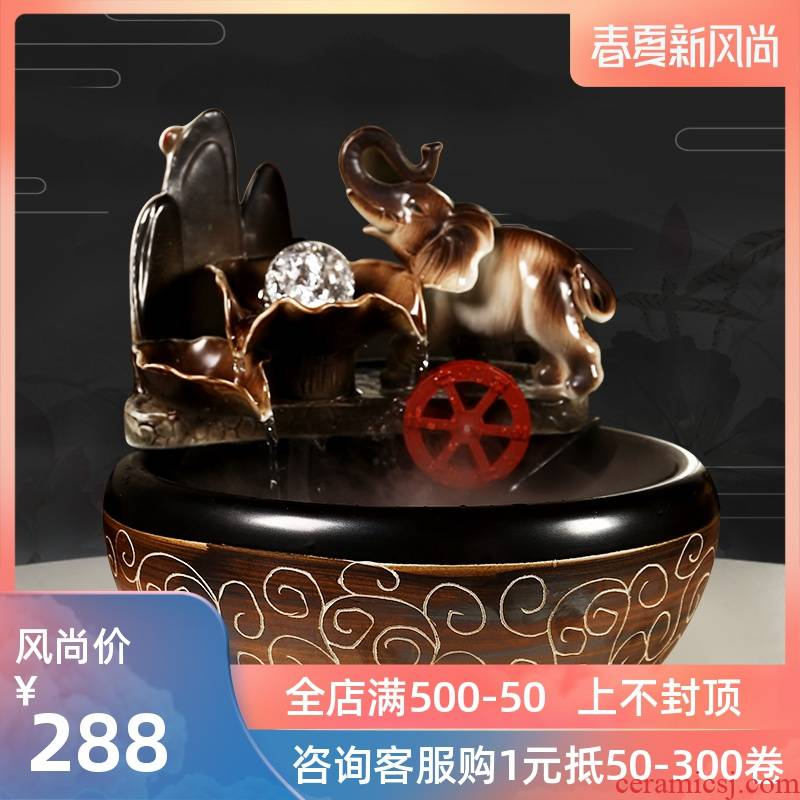 Restoring ancient ways furnishing articles fish creative water exchanger with the ceramics decoration aquariums small sitting room feng shui plutus humidifier