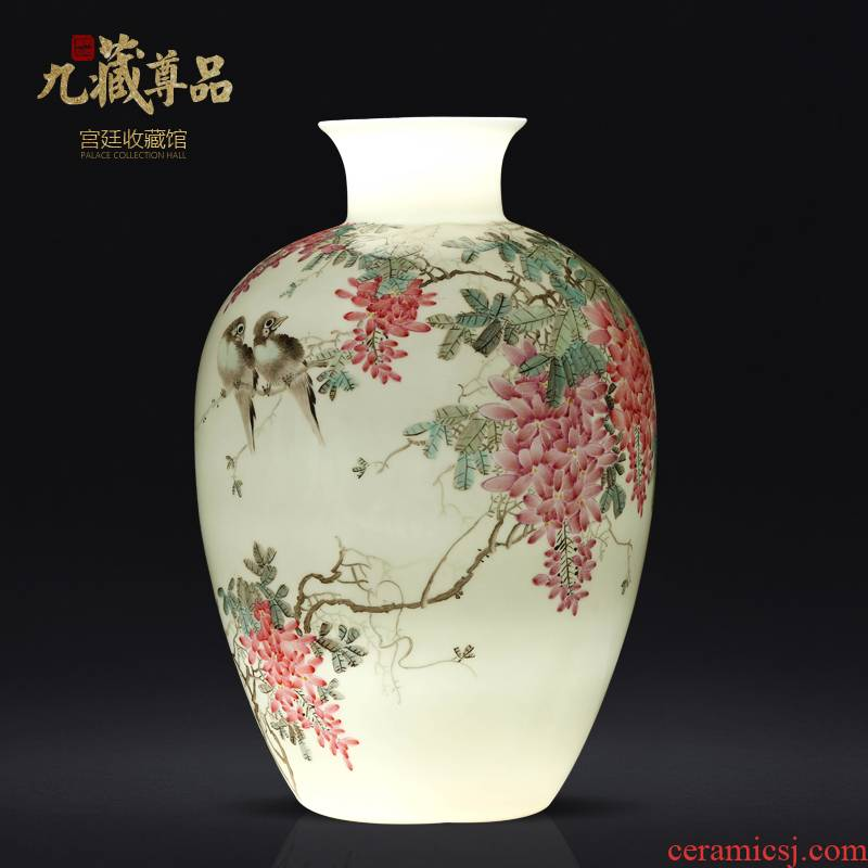 Jingdezhen ceramics Chinese hand - made thin foetus vase sitting room porch TV ark, ikebana arts and crafts decorative furnishing articles