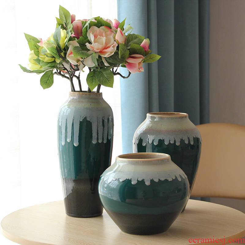 New classical adornment postmodern Jane the sitting room porch restaurant American ceramic vase combination furnishing articles