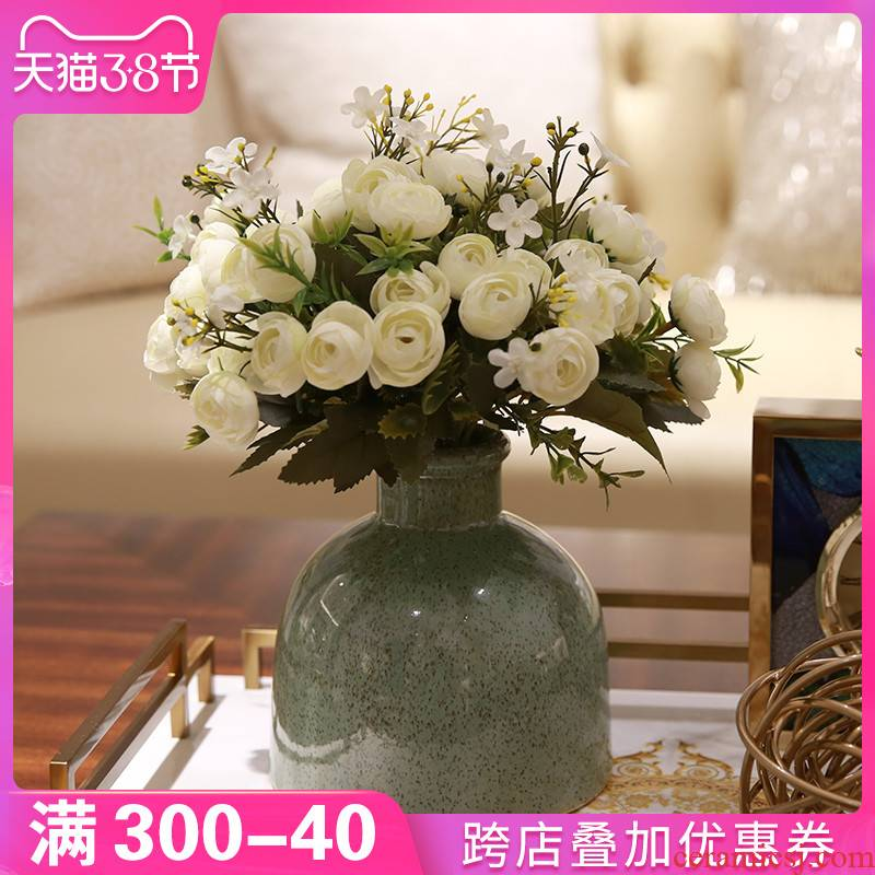 I and contracted household table decorations furnishing articles floret bottle of flower art ceramic American sitting room flower arranging creative decoration