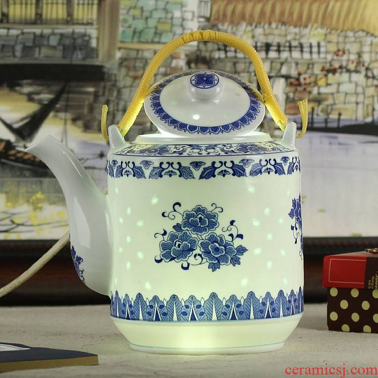 Jingdezhen porcelain teapot tea cool and exquisite porcelain teapot household girder cool big teapot high - capacity ceramic kettle