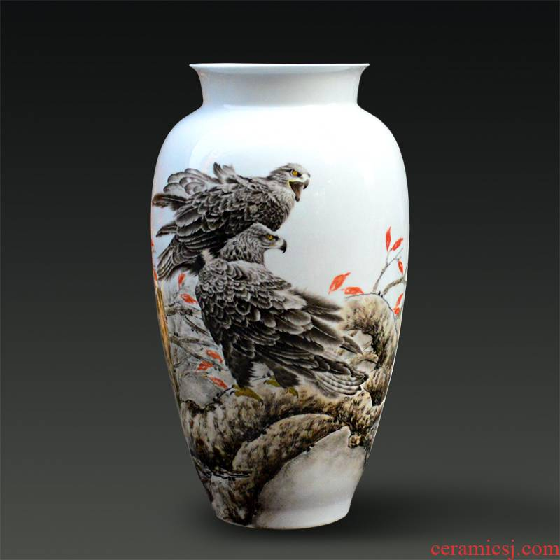 Jingdezhen ceramic Yu Zhao rev hand - made fine powder enamel vase sky modern figure household gifts handicraft furnishing articles