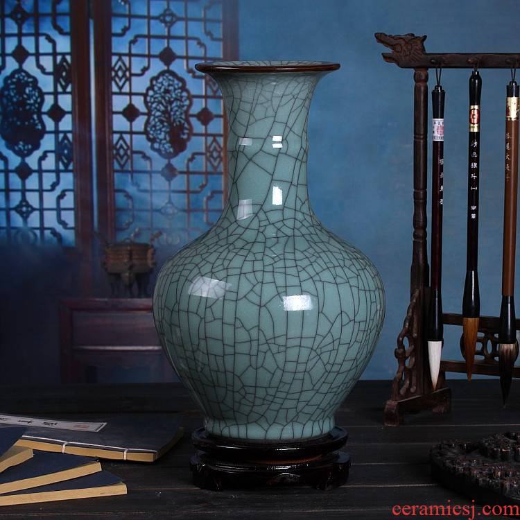 Archaize of jingdezhen ceramics up on green glaze vase sitting room of Chinese style restoring ancient ways household act the role ofing is tasted furnishing articles