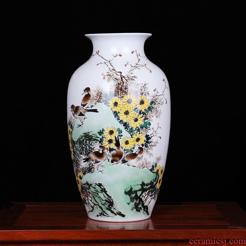 The Master of jingdezhen ceramics Xu Xuegen hand - made vases, drunk qiu home home sitting room handicraft furnishing articles