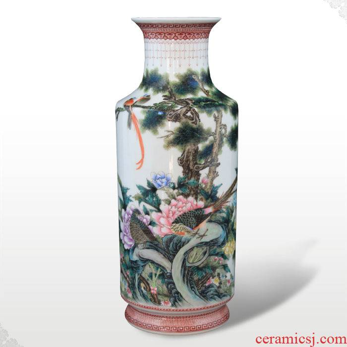 Offered home - cooked in jingdezhen porcelain hand - made famille rose porcelain vase art home furnishings ceramics furnishing articles by hand