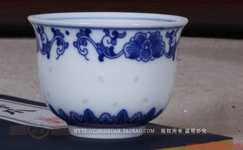Jingdezhen porcelain and exquisite porcelain ceramic cups little glass liquor cup porcelain cups ceramic cup