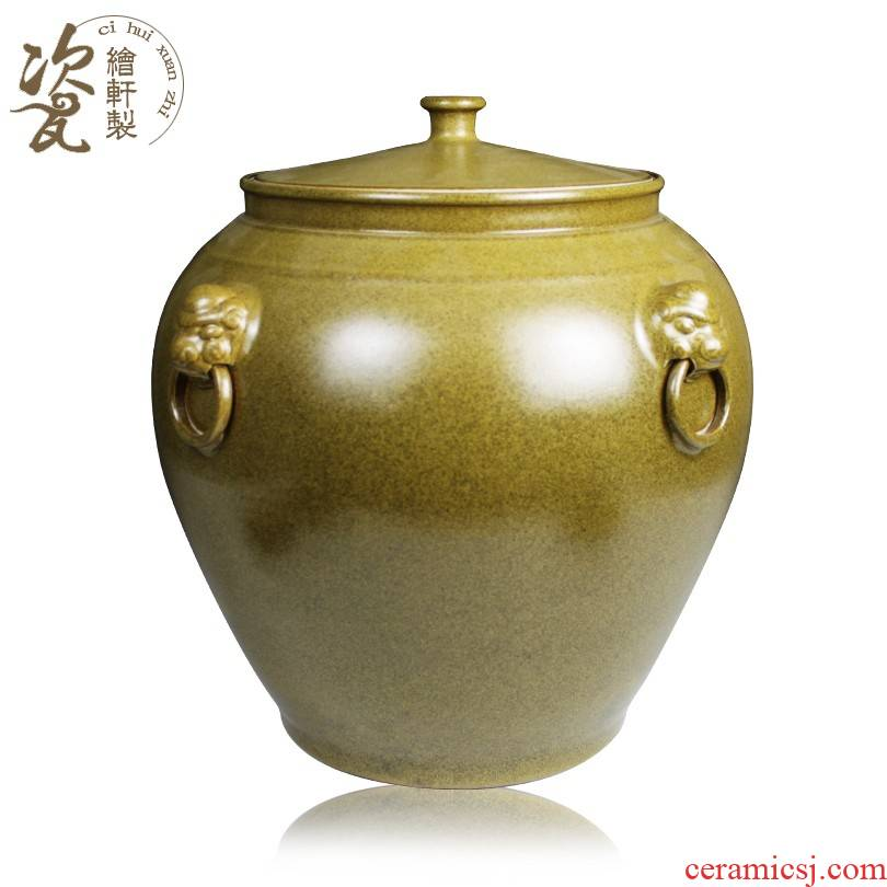 Antique tea at the end of the jingdezhen ceramics glaze covered barrel storage tank mercifully jars cylinder ricer box
