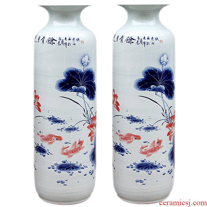 Sf23 jingdezhen ceramics all hand painting of large vase in successive years more Chinese sitting room adornment is placed