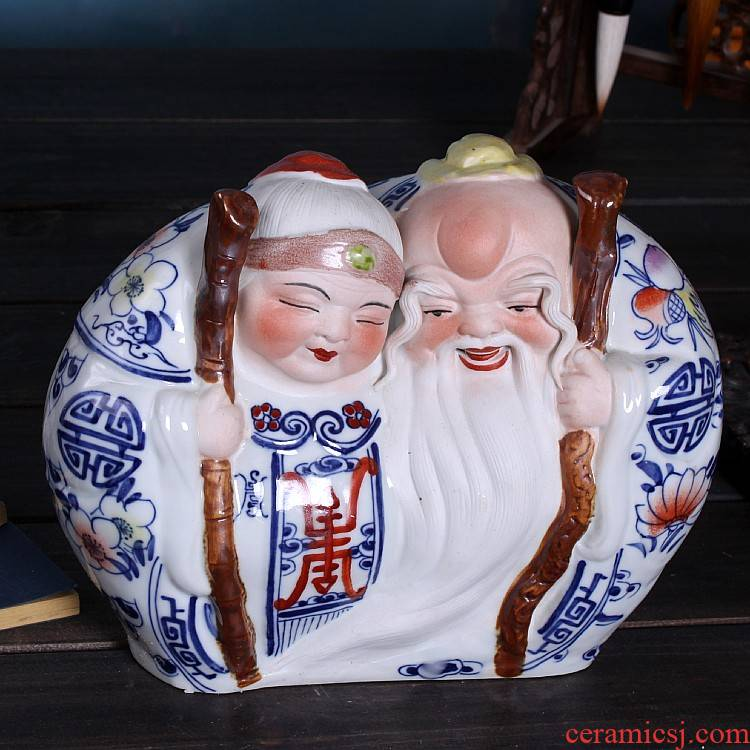 Jingdezhen ceramic wedding gift gift items have a lasting relationship life of male ShouPo creative furnishing articles household act the role ofing is tasted