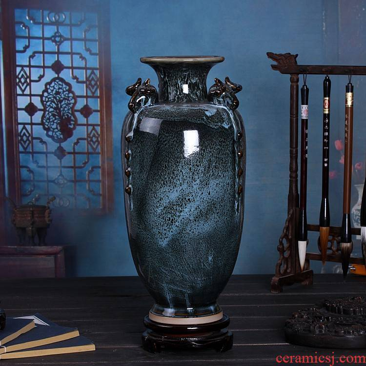 Three Yang kaitai, jingdezhen ceramics up rich ancient frame vase Chinese style restoring ancient ways sitting room adornment handicraft furnishing articles