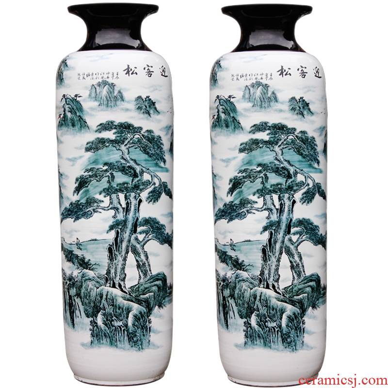 Guest - the greeting pine high landing craft vase sf53 jingdezhen ceramics idea gourd bottle sitting room dining - room ornaments