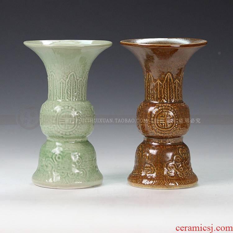 Jingdezhen ceramic is put flower implement floret bottle ceramic antique porcelain vase home decoration
