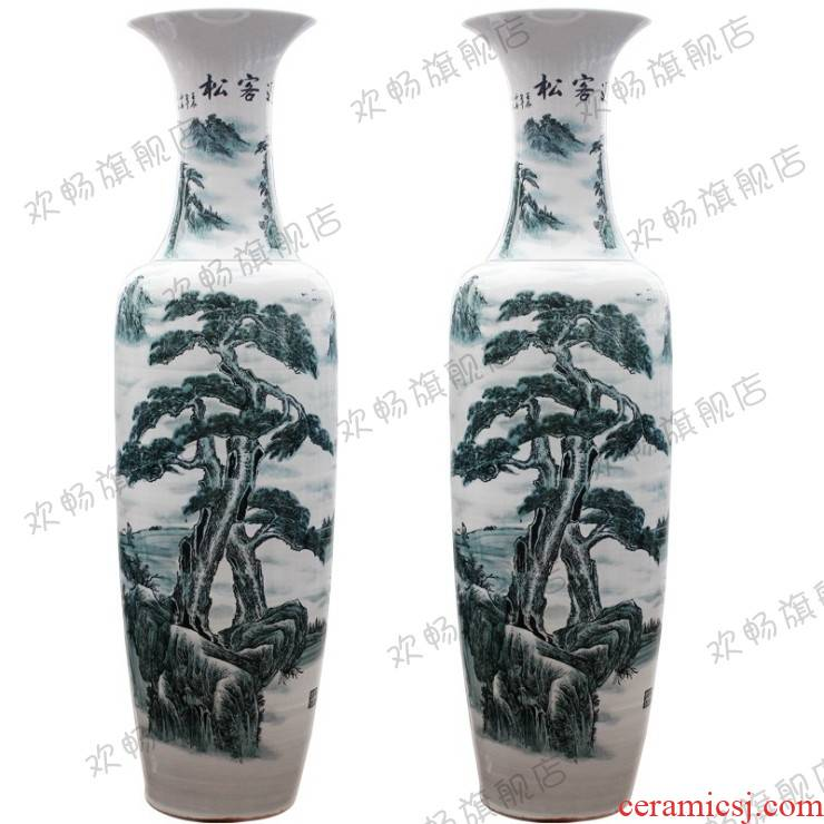 Jingdezhen ceramics hand - made guest - the greeting pine ground sitting room adornment is placed hotel opening gifts sf54 big vase