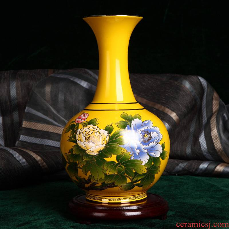 Imperial vase wedding gifts rural home furnishing articles ceramics datang source red porcelain vase is 25 cm