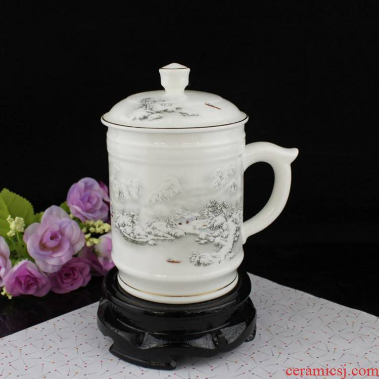 Ceramic cup office cup Ceramic handle cup cup boss cup snow tea cups