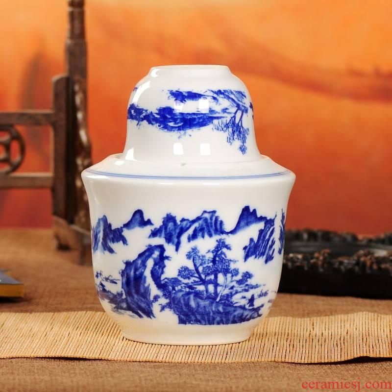 Wine temperature hot hip household jingdezhen ceramic Chinese antique Wine package rice Wine liquor cup of hot temperature Wine pot