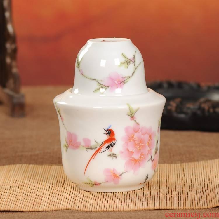 Jingdezhen ceramics wine cup warm wine pot hot hip flask temperature wine pot three - piece two pack 2
