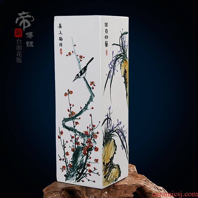 Jingdezhen ceramic hand - made painting of flowers and ceramic vase fashionable classical masterpieces by famous writers home furnishing articles sitting room adornment
