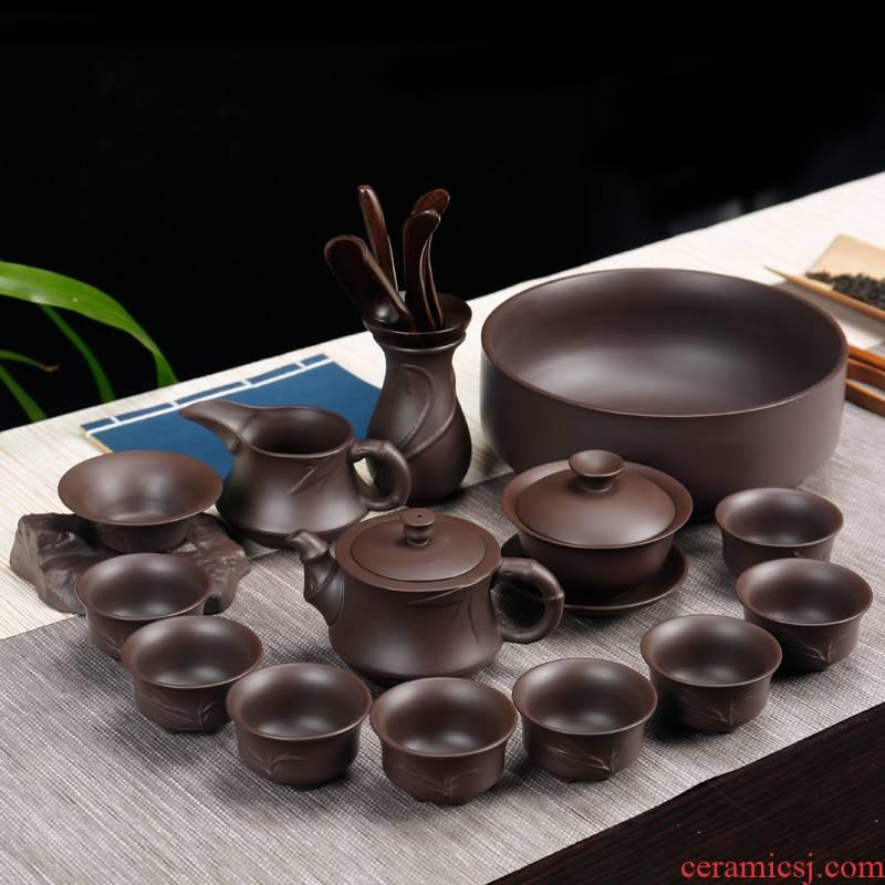 Kate purple sand tea set office XiCha kung fu tea tea cup tea set support custom LOGO