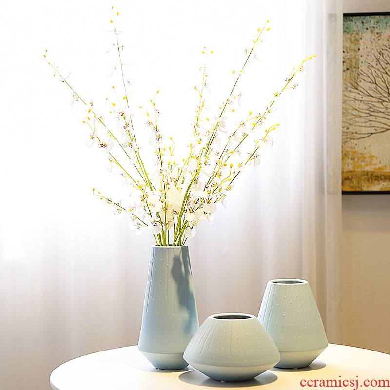 Mesa of the new Chinese jingdezhen ceramic vase living room TV cabinet decoration wine porch decorate the desktop furnishing articles