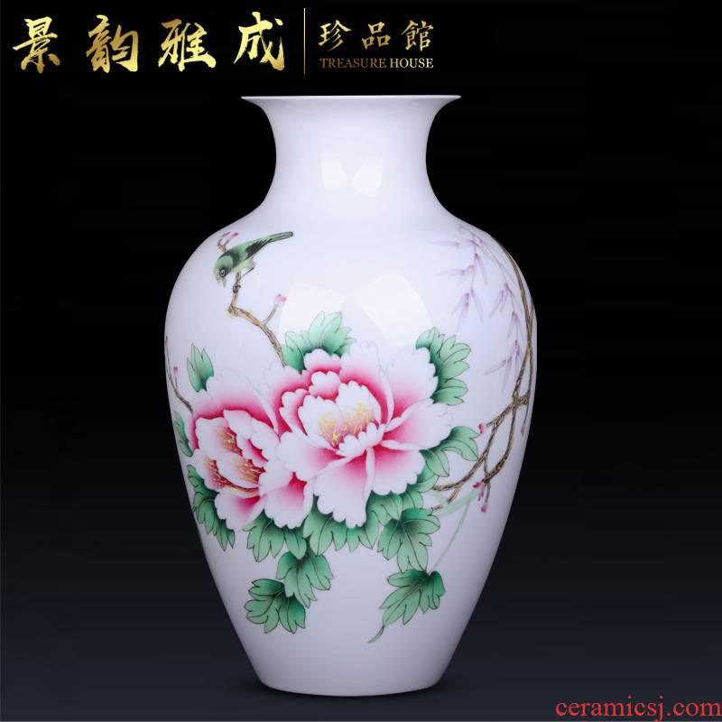 Jingdezhen ceramic hand - made flowers vase decoration crafts are sitting room porch flower arranging, arts and crafts