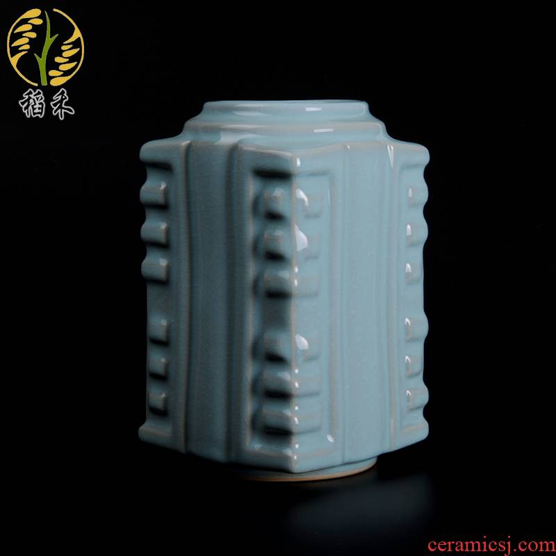 Ore your up archaize furniture decorative vase of TV ark, wine porch furnishing articles of Chinese style simple ceramic arts and crafts