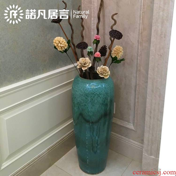 Large vases, dry flower color glaze kiln modern European sitting room decoration to the hotel villa American furnishing articles