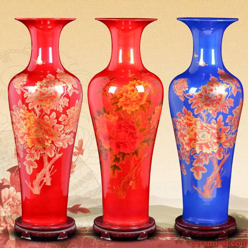 Jingdezhen ceramic Chinese American landing big vase sitting room place, a large European modern decoration
