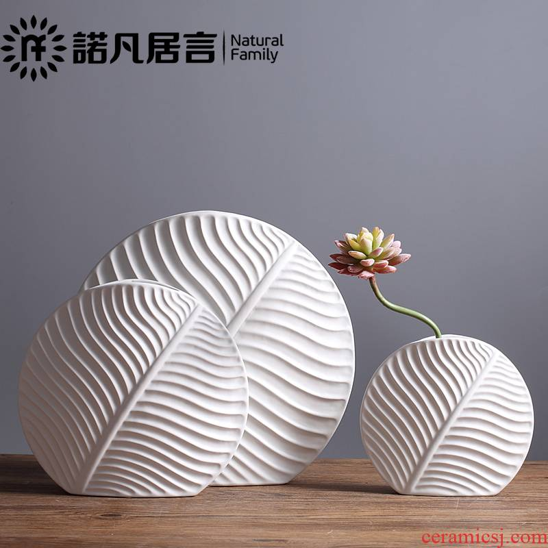 Ceramic vase northern wind simulation flower, flower implement furnishing articles example room dining - room sitting room desktop vase decoration villa