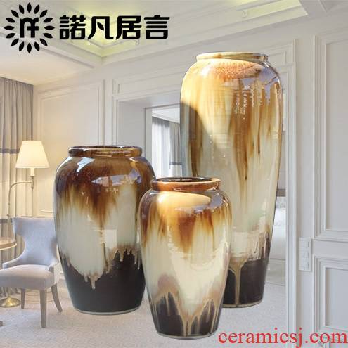Jingdezhen of large vases, the sitting room porch place Chinese up flower flower implement hotel ceramic decoration