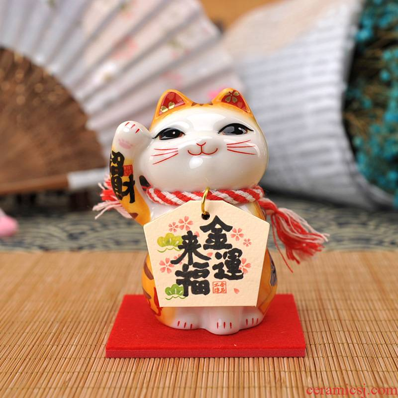 Stone workshop Jin Yunfu to mini plutus cat ceramic gifts household act the role ofing is tasted car furnishing articles furnishing articles marriage