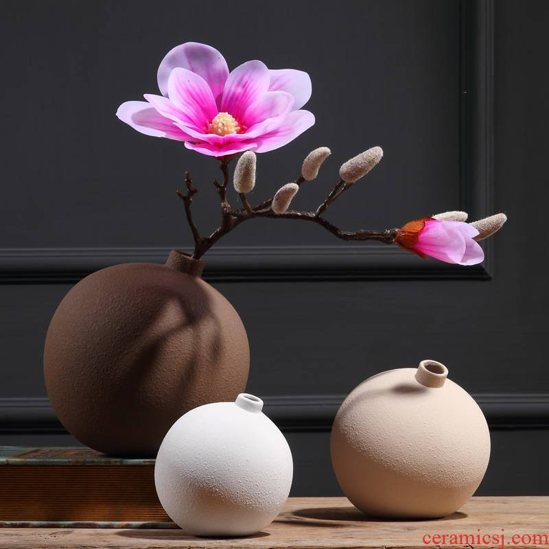 Household adornment art vase floral bottle dry flower is placed in the living room table creative China bottles of ceramic arts and crafts
