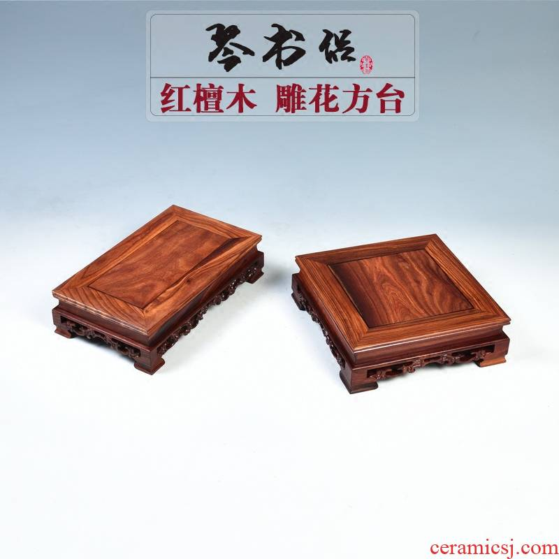 Pianology picking mahogany base rectangle flowers miniascape base solid wood square home decoration pastry base