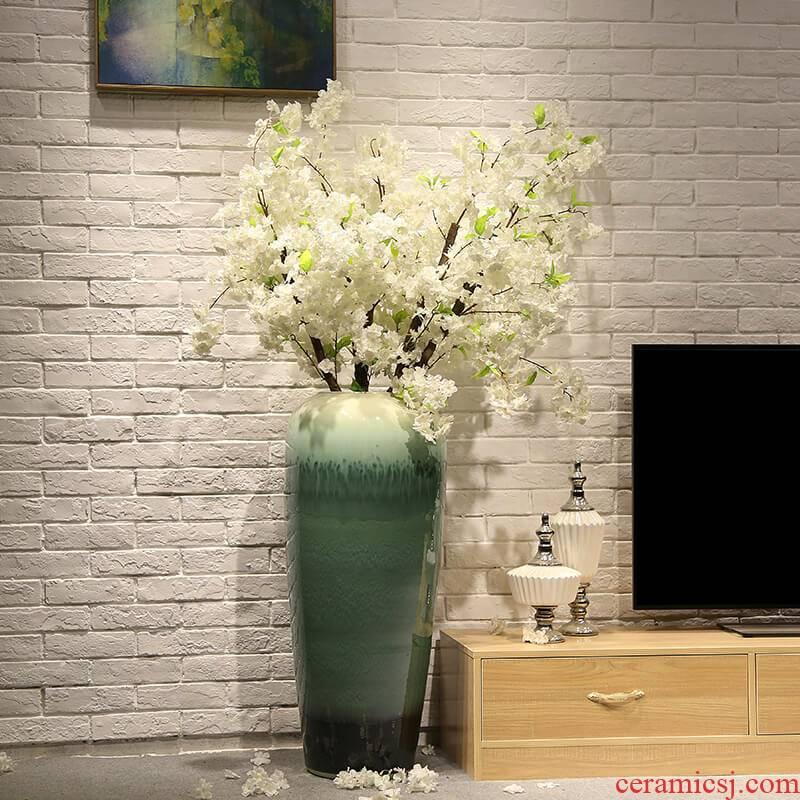 Jingdezhen European - style originality of large vase wedding landscape decoration simulation flower big flower, flower ceramic furnishing articles