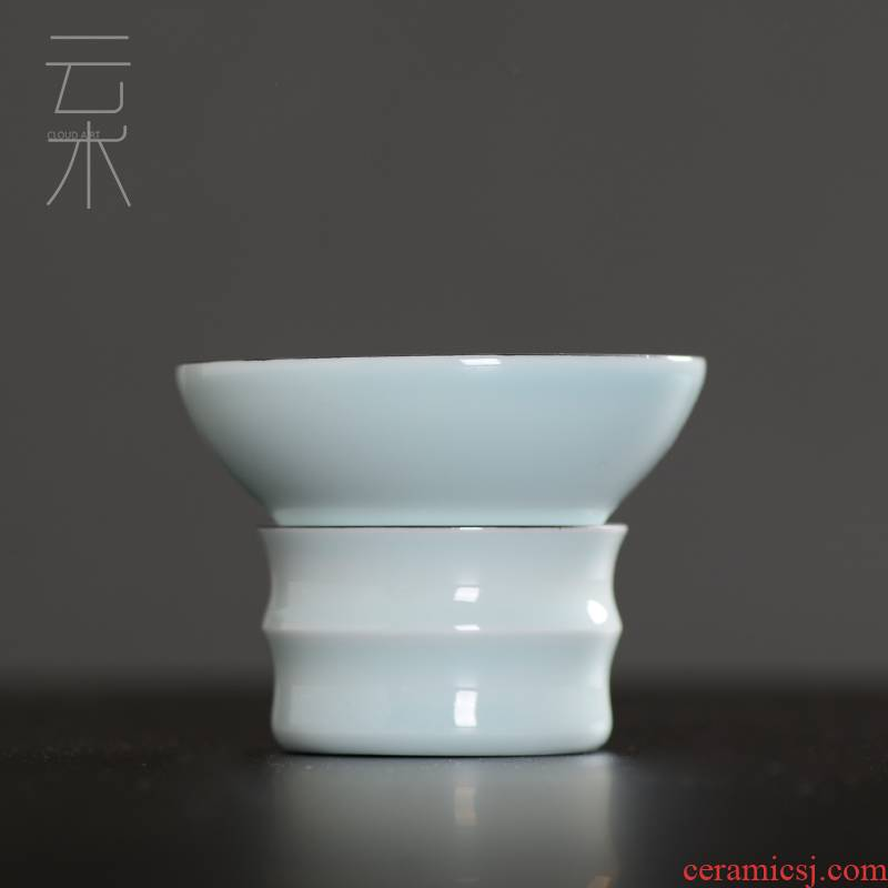 Cloud art of jingdezhen) ceramic creative tea filters make tea, tea tea set filter frame accessories