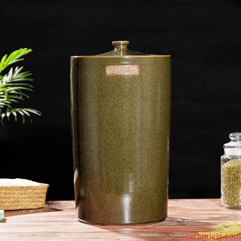 Ceramic barrel 20 jins with cover 30 kg oil cylinder tank, it can save m barrels moistureproof jingdezhen