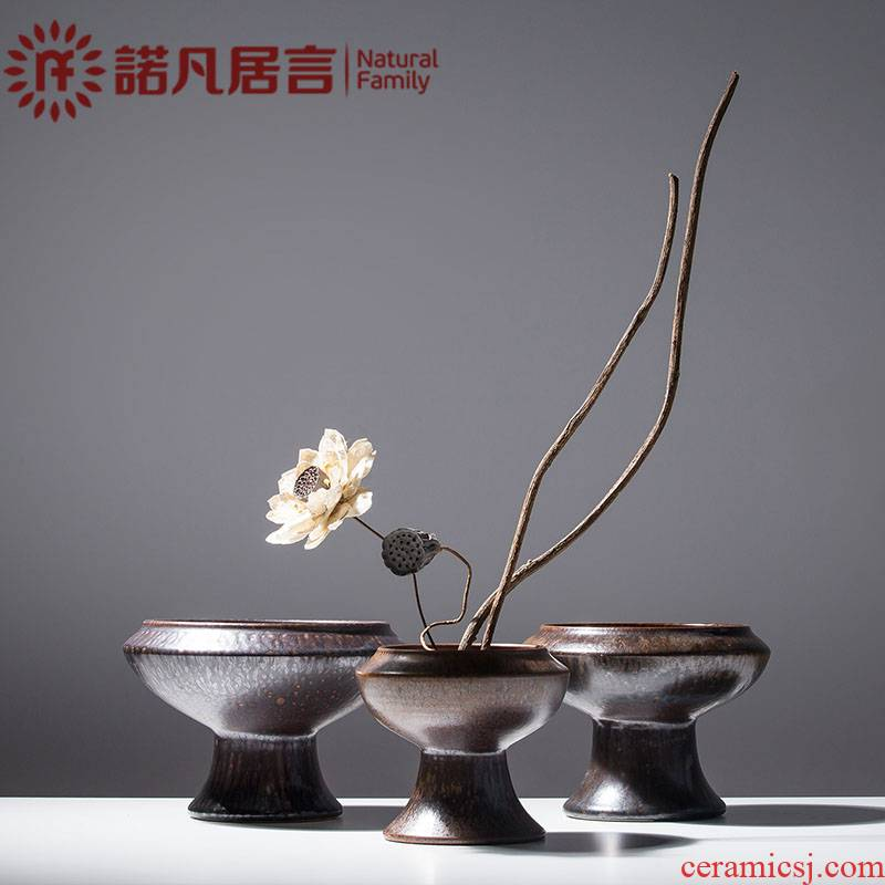 Mesa ceramic vases, dried flowers, flower arrangement furnishing articles sitting room table, TV ark, I and contracted zen decoration decoration
