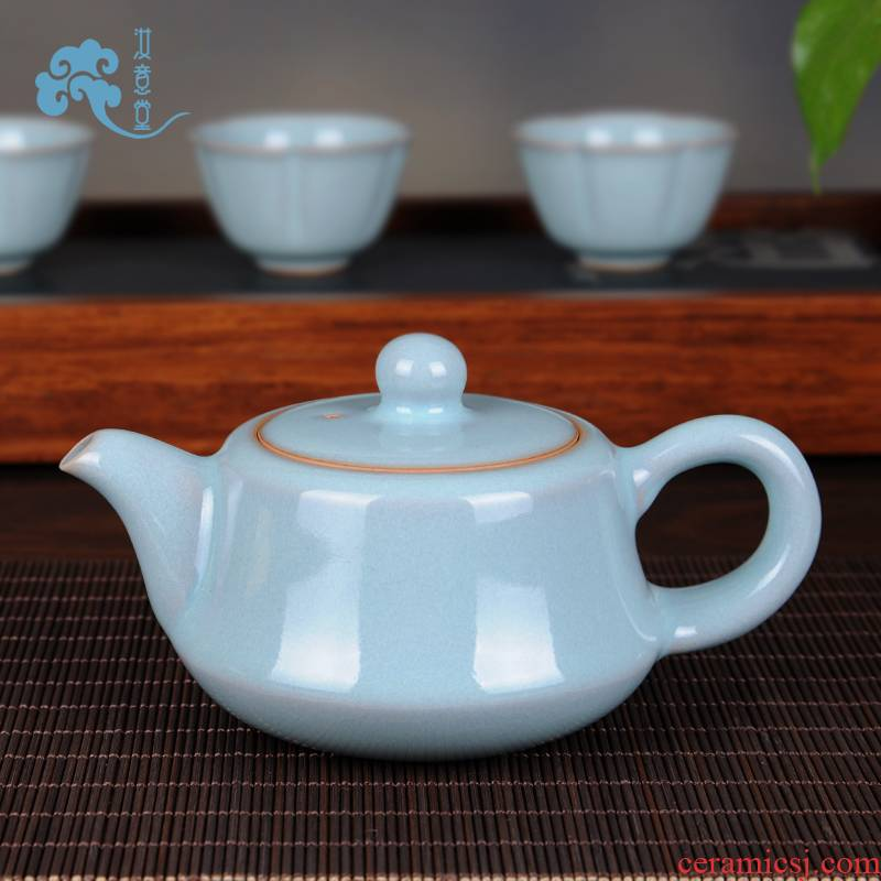 Undressed ore archaize your up with pure manual your porcelain ceramic teapot kung fu tea set single pot teapot CiHu Chinese style household